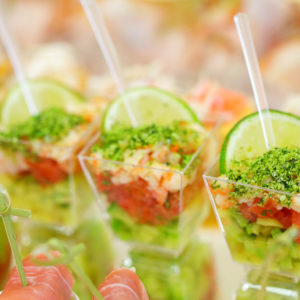 Aji Tuna and Cucumber Cups