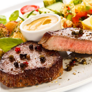 Peppercorn Sirloin with Capers