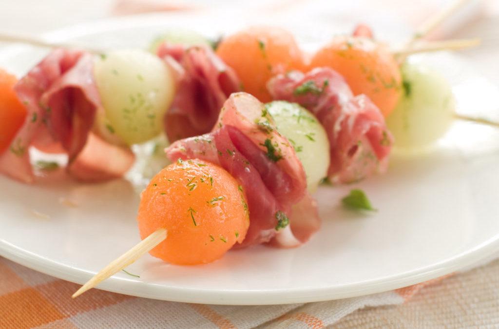 Prosciutto and Melon Skewer