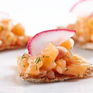 Salmon Radish Crostini