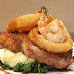 Sirloin and Shrimp Scampi